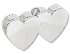 Грузик для шара Два сердца (серебро) 170 гр.