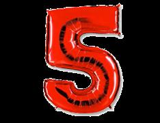 "Воздушный шар Цифра ""5"" Red"