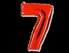 "Воздушный шар Цифра ""7 "" Red"