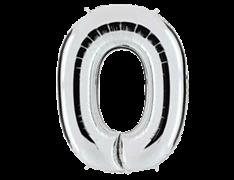"Воздушный шар Цифра ""0"" Silver"