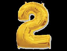 "Воздушный шар Цифра ""2"" Gold"