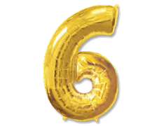 "Воздушный шар Цифра ""6/9"" Gold"