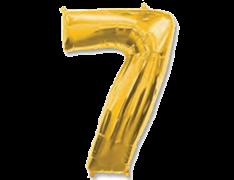 "Воздушный шар Цифра ""7"" Gold"
