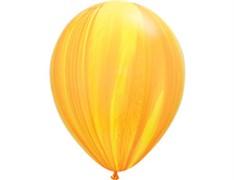 Шар Супер Агат Yellow Orange