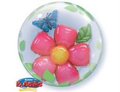 "Шар Bubble Инсайдер ""Цветок и бабочка"""