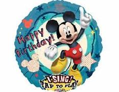 Воздушный музыкальный шар Микки Маус Танцующий