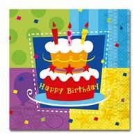 Скатерть полиэтиленовая Торт Birthday 140х180 см/G