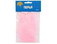 Перья декоративные Розовые 10 см. 30 шт