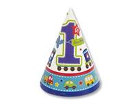 Колпак  Первый день рождения Мальчик 8 шт.