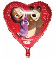 Воздушный мини шар Маша и Медведь