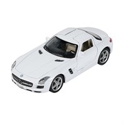 Машинка Инерционная Mercedes-Benz SLS AMG, Белая (1:41-1:32)
