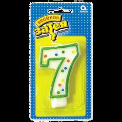 """Свеча-цифра """"7"""" - фото 7614"""