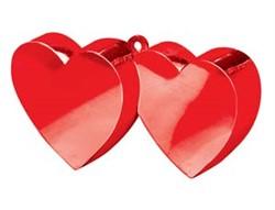 Грузик для шара Два сердца (красные) 170 гр. - фото 7659