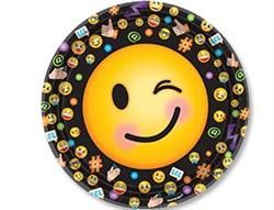 Тарелка Эмоции Смайлик 23 см. 8 шт. - фото 7706