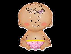 """Воздушный шар Малыш """"Девочка"""" - фото 7814"""