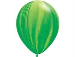 "Шар Q 11"" Супер Агат Green - фото 7886"