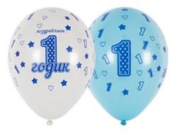 Шар Шелкография Первый День Рождения Мальчик - фото 7893