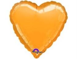 Шар Сердце Металлик Gold - фото 7906