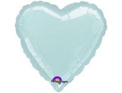 Шар Сердце Металлик Silver - фото 7909