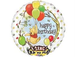 Музыкальный воздушный шар Винни Пух - фото 7938