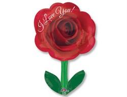 """Шар фигура """"Роза со стеблем"""" - фото 8095"""