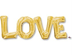"""Шар фигура """"LOVE"""" золото - фото 8107"""