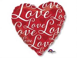"""Шар """"LOVE Сердце красное"""" - фото 8118"""