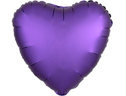 Шар СЕРДЦЕ Сатин Purple Royale - фото 8143