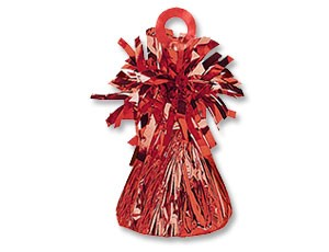 Грузик для шара Конус красный 170 гр - фото 8604