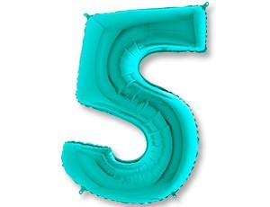 """Воздушный шар ЦИФРА """"5"""" Tiffany - фото 8674"""