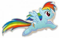 Мини шар Пони голубой - фото 8817