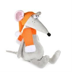 Крыс Денис в Оранжевой Шапке и Шарфе, 28 см - фото 8923