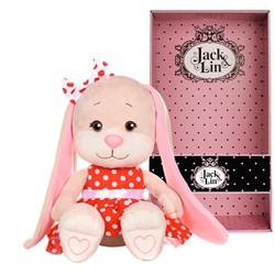 Зайка Jack&Lin в Красном Платье, 25 см, в Подарочной Упаковке - фото 8941