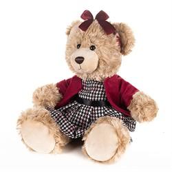 Мишка Моника в Красном Жакете и Клетчатом Платье, 25 см - фото 9001