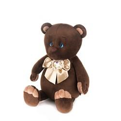 Романтичный Медвежонок с Бежевым Бантиком, 20 см, в Коробке - фото 9005