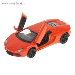 Машинка Инерционная Lamborghini LP-700, Оранжевая - фото 9039