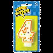"""Свеча-цифра """"4"""""""