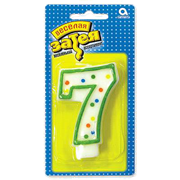 """Свеча-цифра """"7"""""""