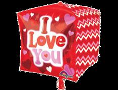 """Шар фигура """"Куб """"I Love You"""""""
