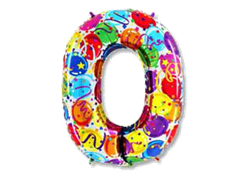 "Воздушный шар Цифра ""0"" Шары"