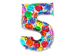 "Воздушный шар Цифра ""5"" Шары"