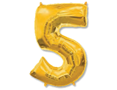 "Воздушный шар Цифра ""5"" Gold"