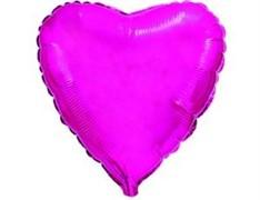 "Шар Б/РИС Сердце Металлик 18"" Purple"