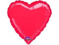 Шар Сердце Металлик Red