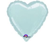 Шар Сердце Металлик Silver