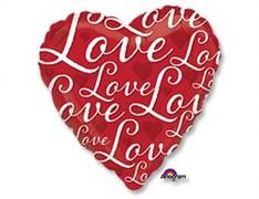 "Шар А 18"" LOVE Сердце красное S40"