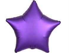 Шар ЗВЕЗДА Сатин Purple Royale