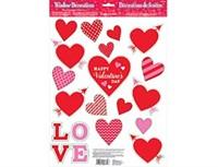 Наклейки на окно Сердца Валентин 20 шт.