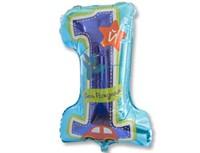 Воздушный шар ЦИФРА 1 Мальчик Первый день рождения