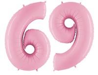 Воздушный шар ЦИФРА 6/9 Пастель Pink